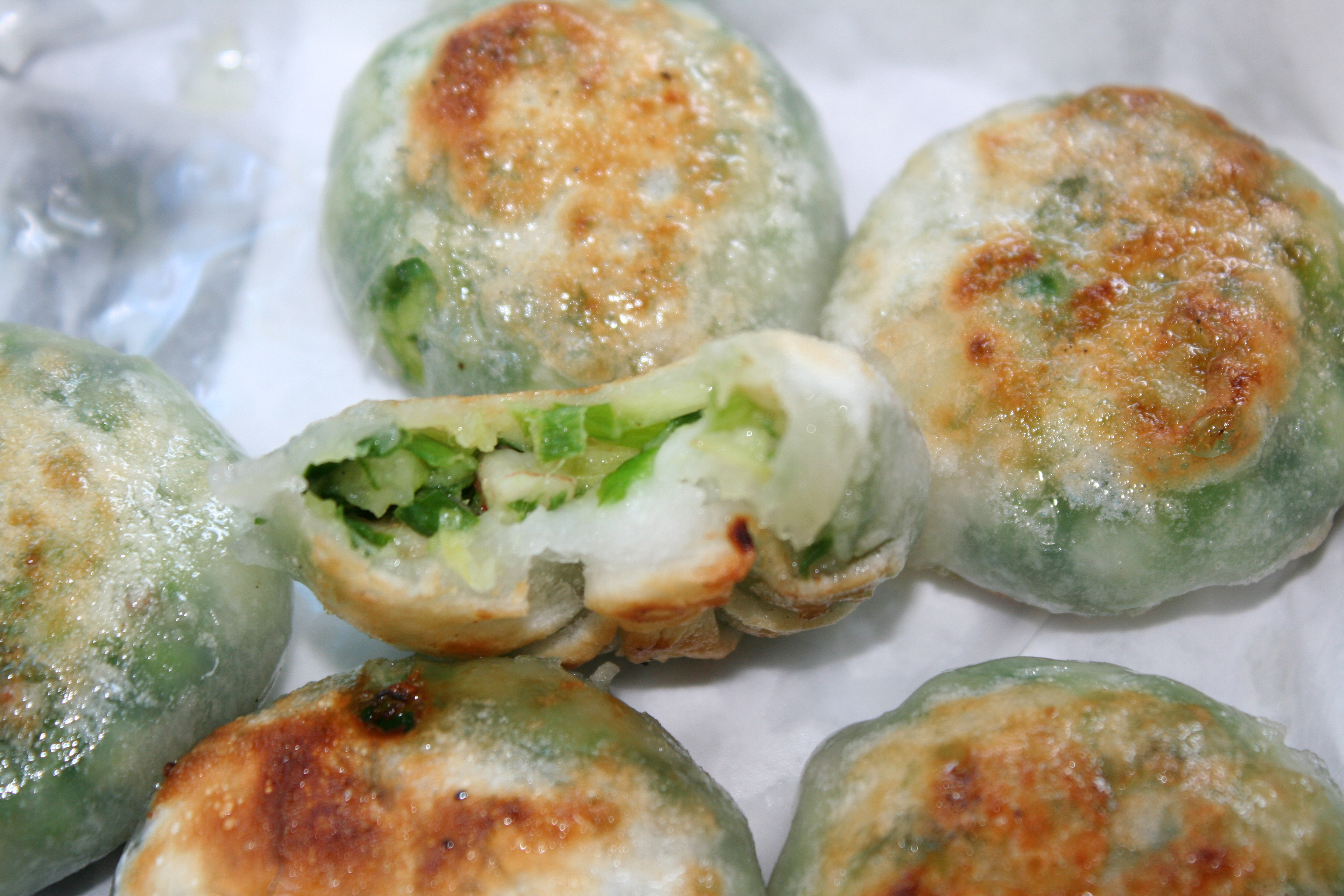 Shrimp and chive dumplings from Got Dumplings. One of the few things I ...
